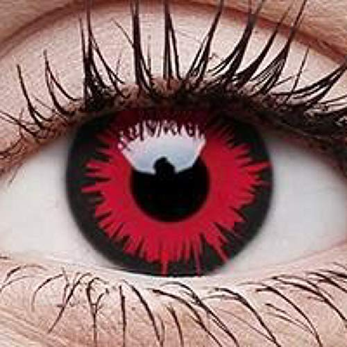 Crazy Lens for your wild fantasies Cosmetic Coloured Lenses Modell: Vampire Stärke: -0.00 2 Stück Loft Contact Lenses - Halloween oder für Fasching Karneval Kontaktlinsen