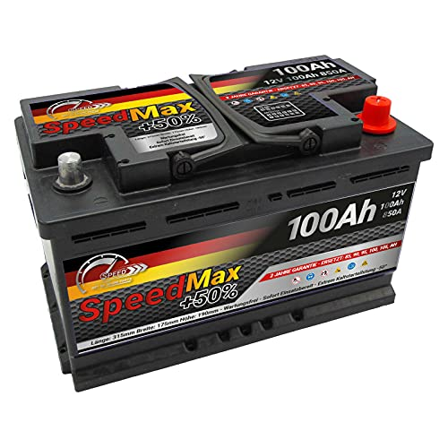 Batteria auto SPEED MAX L4100 100AH 850A 12V = FIamm 100Ah DX+ Pronta all'uso