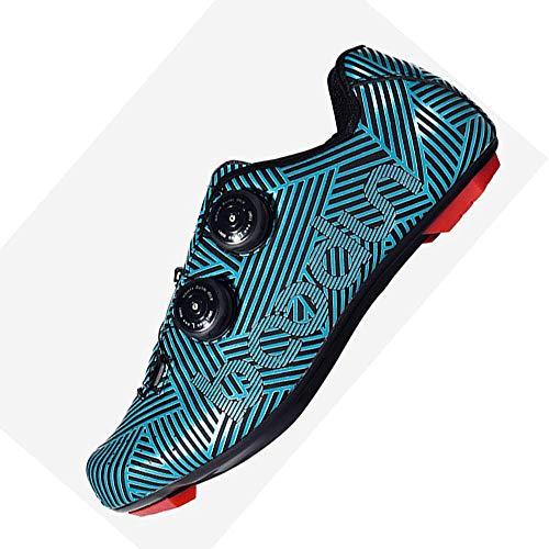 Neue Herren Fahrradschuhe Nylon Atmungsaktive Sport Fahrradschuhe Renn Mountainbike Riding Selbsthemmende Schuhe,Blue1-41