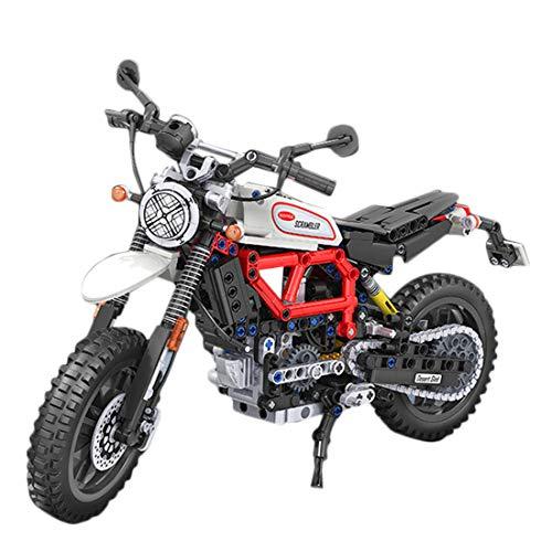 HYMAN - Escalada de moto, 611 piezas, 1:6, para montar en moto, compatible con las marcas Major, 36,5 x 14 x 21,5 cm