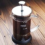 decen 3 Cup Kaffeebereiter French Coffee Drücken Tee Edelstahl Kaffeekanne 600 ml