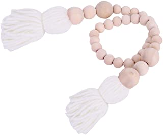 Perles en bois Tassel, chambre de nouveau-né décoration chambre d'enfant ficelle en verre pot de verre poussette suspendu ...
