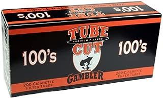 Gambler Tube Cut Regular Full Flavor 100mm RYO Cigarette Tubes 200ct Box (5 Boxes)