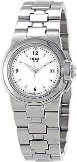 """للنساء من tissot """"T"""" باللون الأبيض مقاس ساعة يد من الفولاذ المقاوم للصدأ وقرص كوارتز الرياضي t080.210.11.017.00"""