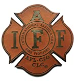 Genuine Leather IAFF UNION 4' (hook/loop) Firefighter/EMT/Paramedic Morale PATCH