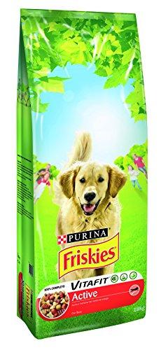 Alimento Perro Seco Friskies Active Rico En Carnes 18 Kg