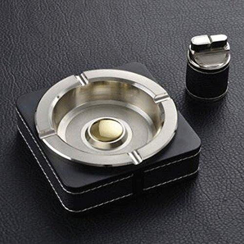 XZPENG Eckige Metallaschenbecher senden Feuerzeuge, Werbegeschenke for Männer unterstützen Wohnzimmer, Couchtisch, Büro (Color : Gold)
