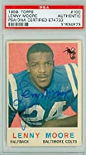 Lenny Moore AUTOGRAPH 1959 Topps Football Baltimore Colts PSA/DNA Authentic Slabbed