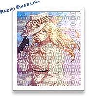 BE ヴァイオレット・エヴァーガーデン Violet Evergarden パズル 木製 300/500/1000/1500のパズルのピース ジグソーパズル レジャー エンターテイメント フォトフレーム付属 初心者向け 子供プレゼント カスタム可能【500pcs】【ホワイトのフォトフレーム】