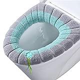 YGMXZL 3 Pezzi Toilette Copri Sedile,Universale Coprisedile per WC Spessa e Morbida Copriwater in Tessuto con Anello di Fissaggio,Lavabile in Lavatrice (Tre colori)