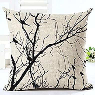 LYN Cotton Linen Square Throw Pillow Case Decorative Cushion Cover Pillowcase for Sofa 18 X 18  Lyn-82 (17)