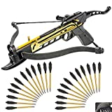 KingsArchery Self-Cocking Crossbow Bundle with Adjustable...