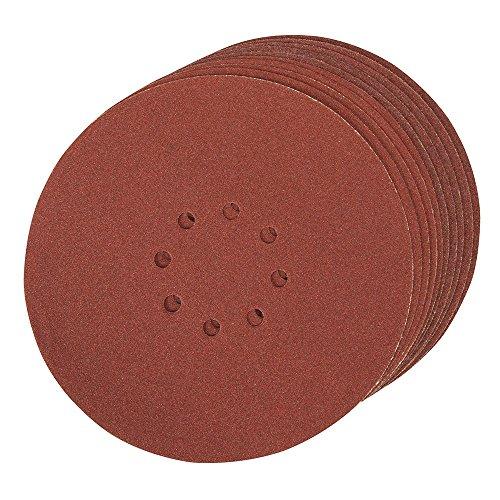 Silverline 272756 - Discos de lija perforados autoadherentes 225 mm, 10 pzas (Grano 80)