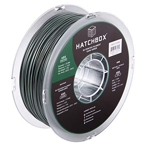 HATCHBOX Paint-Free ABS 3D Printer Filament, Dimensional Accuracy +/- 0.03 mm, 1 kg Spool, 1.75 mm, Green