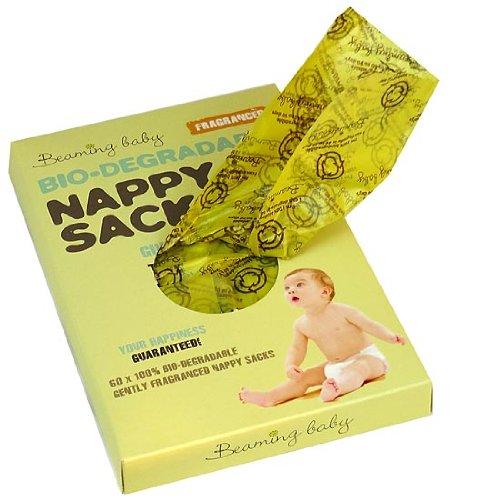 Beaming Baby - Sacs à couches - Bio-dégradable - Parfumé - 5 paquets de 60 (300 sacs)