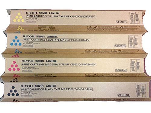 Price comparison product image Ricoh Aficio MPC4500a Toner Cartridge Set (OEM) Black,  Cyan,  Magenta,  Yellow