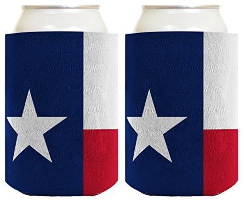 76DinahJordan grappige kan Coolie Texas Vlag Lone Star State Pride 2 Pack kan Coolie drinken koelers Coolies Texas vlag