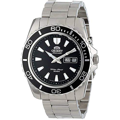 Orient Unisex Erwachsene Analog Automatik Uhr mit Edelstahl Armband FEM75001B6