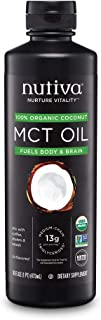 Nutiva Organic MCT Oil, Keto & Paleo Friendly, Unflavored, 16 Ounce