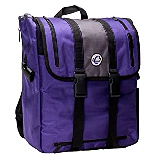Case-It BKP-102 Laptop Backpack with Hide-Away Binder Holder, Fits 13-Inch Laptops, Purple/Grey (BKP-102 PURG) (B01KLLQ0RO) | Amazon price tracker / tracking, Amazon price history charts, Amazon price watches, Amazon price drop alerts