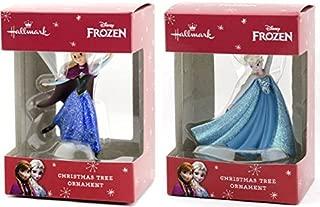 Hallmark Disney Elsa and Anna Skating Christmas Ornaments, Set of 2 New for 2015