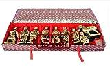 CHOUDOUFU Estatua Escultura Adorno Artesanías De Arcilla 9 Unids/Set Ejército Chino Terracota Qin Escultura del Ejército 8.5 Cm De Alto con Caja De Regalo Estatuilla China Decoración del Hogar