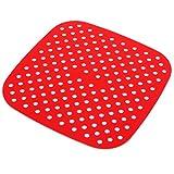 UPKOCH Tapete de Silicone Air Fritadeira Fritadeira Ar Fritadeira Ar Grill Mat Steamer Vapor Forro Forros Reutilizáveis Esteira de Cozimento Acessórios (Squard)