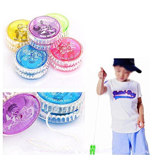 Distinct® 1pc Enfants plastique LED lumineux haute vitesse Yoyo Ball couleur aléatoire