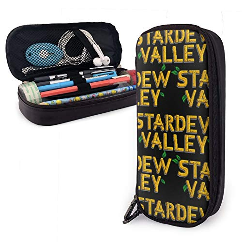 Stardew Valley Pencil Case Large Capacity Pen Case Pu Pencil Bag Pouch Pen Pencil Marker Stationery Organizer with Double Zipper