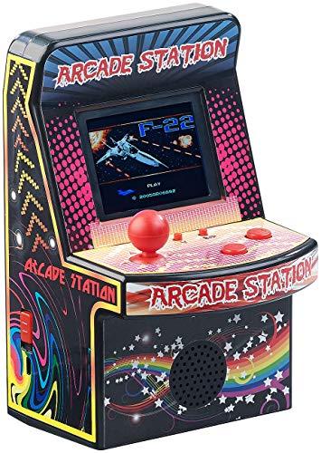 MGT Mobile Games Technology Spielautomat: Handlicher Retro-Videogame-Automat, 200 Spiele, LCD-Farb-Display, Akku (Retro Game)