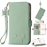 iPhone 8 Plus Wallet Case iPhone 7 Plus Cute Cartoon flip Case for Girls Women Lovely PU Leather Flip Cover Card Slots Stand Magnetic Closure Wrist Strap Case for iPhone 6 plus/6s Plus 5.5 Inch