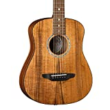 Luna Guitars Safari Koa Supreme 6 String Acoustic/Electric Guitar with Gigbag, Right (SAFKOASUPREME)