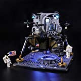 BRIKSMAX Led Lighting Kit for Creator NASA Apollo 11 Lunar Lander - Compatible with Lego 10266 Building Blocks Model- Not Include The Lego Set