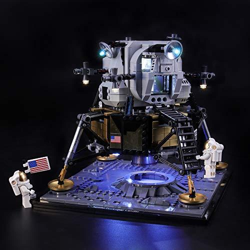 BRIKSMAX Kit de Iluminación Led para Lego Apollo 11 Lunar,Compatible con Ladrillos de Construcción Lego Modelo 10266, Juego de Legos no Incluido