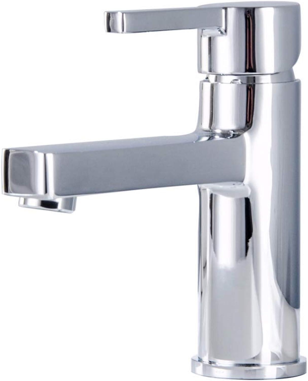 BILLY'S HOME Modern soild brass bathroom sink faucet, single handle one hole basin mixer tap, chrome bathroom sink lavatory faucet, for bathroom kitchen hotel