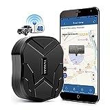 Localizador GPS para Coche,4G GPS Coche Antirrobo GPS Tracker con Imán Fuerte Oculto,Impermeable,Alarma de Caída por Vibración, para Autos Moto o Flota 10000Mah TK905B