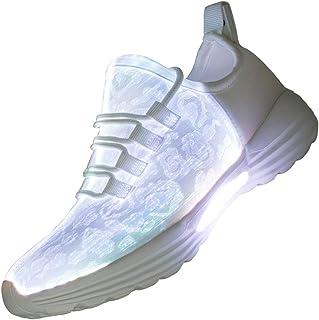 Fiber Optic LED Light Up Shoes for Women Men USB Charging...