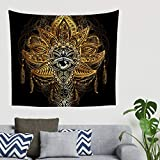 Zhcon Lotus Tapestry Wandteppich Lotus Bed Sheet, Landschaft Tapisserie Dekoration für Wohnzimmer Dekor White 230x150cm