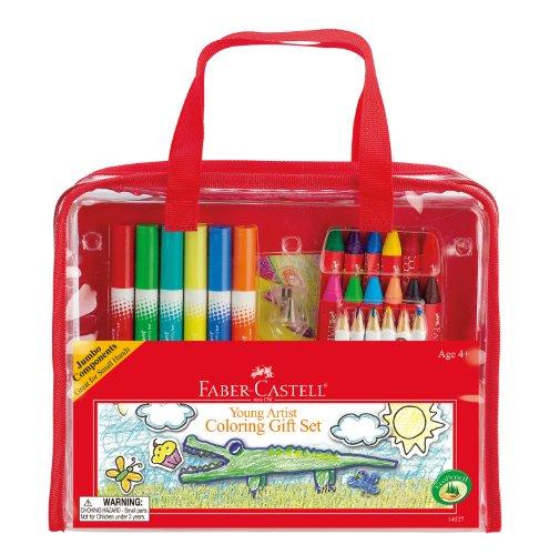 Faber-Castell Geschenkset für Junge Künstler – Premium-Kunstbedarf für Kinder in tragbarer Aufbewahrungstasche
