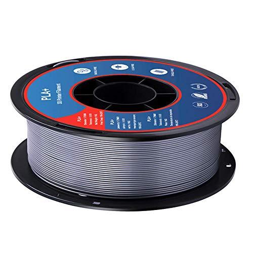 PLA + FILAMT 1,75mm, 3D-Druckerfilament 1kg (2.2lb), Maßgenauigkeit +/- 0,02 mm-Silber