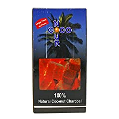 Nour Coco 100% Natural Coconut Charcoal for Hookah 96 Pc Nour Coco is made of pure Coconut Shell Charcoal Nour Coco lasts three times longer than any ordinory charcoal do Nour Coco is Envorinment Friendly It's 100 % made of coconut shell Product of I...