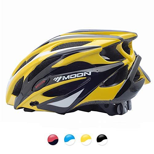 MOON 自転車 ヘルメット ロードバイク サイクリング ヘルメット 超軽量 高剛性 サイズ調整 25通気穴 スポーツ 大人 男女兼用