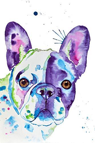 Frenchie Watercolor Print Art
