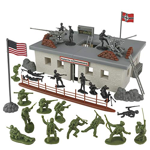 BMC WW2 Secret Stronghold - 36pc Plastic Army Men German Bunker Playset