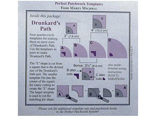Perfect Patchwork Template-Small Drunkard's Path 4/Pkg