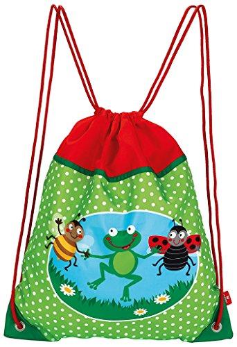 moses. Krabbelkäfer Turnbeutel Sportbeutel mit verstärkten Ecken im bunten Design Für Kinder, 40 cm, Mehrfarbig
