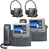 Plantronics -Over-The-Head monaural Wireless Headset System CS510 Cisco Unified IP Phone 7975G (2 Pack) Combo