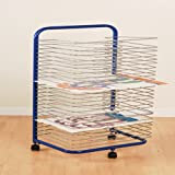 Constructive Playthings-HPE-13 Mobile Drying Rack with 24 Wire Shelves for Works of Art