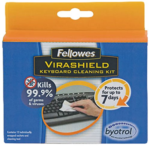Fellowes Virashield Keyboard Cleaning Kit