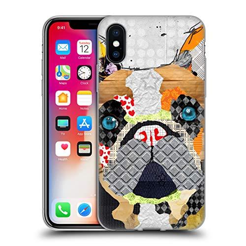 Head Case Designs Oficial Michel Keck Bulldog Francés Perros 3 Carcasa de Gel de Silicona Compatible con Apple iPhone X/iPhone XS
